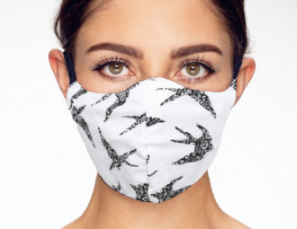mondkpapje face mask white birds